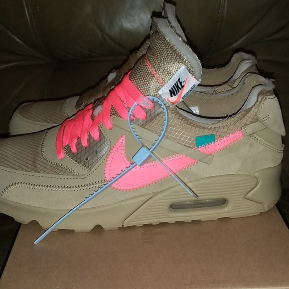 Off White Shoes Off White X Nike Air Max 90 Desert Ore Authentic